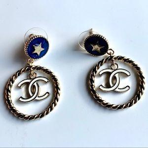 Chanel Round Hoops Earrings